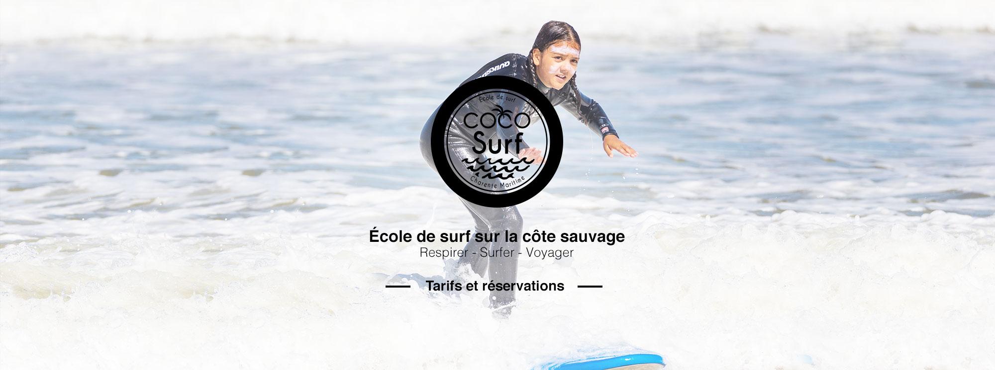 slide tarifs et réservations Coco Surf
