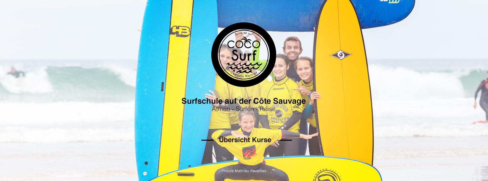 Photo groupe ados filles coco surf école de surf charente maritime