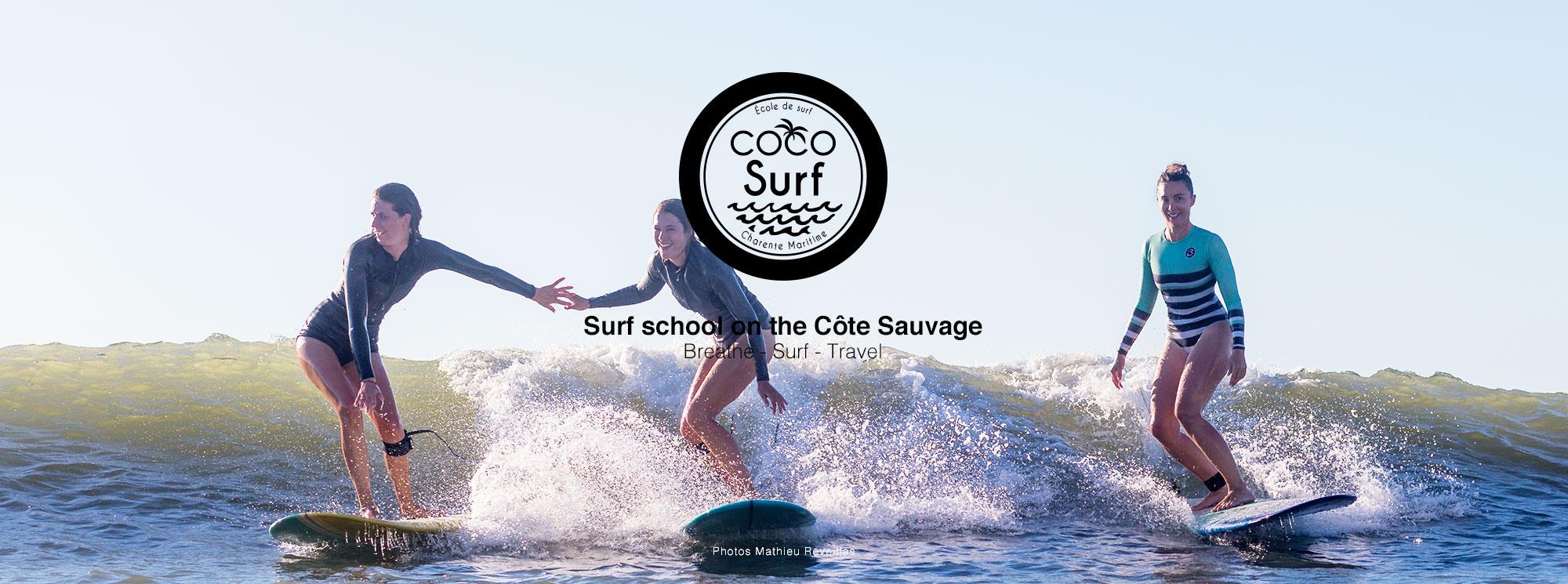 3 surfeuses école de surf coso surf charente maritime
