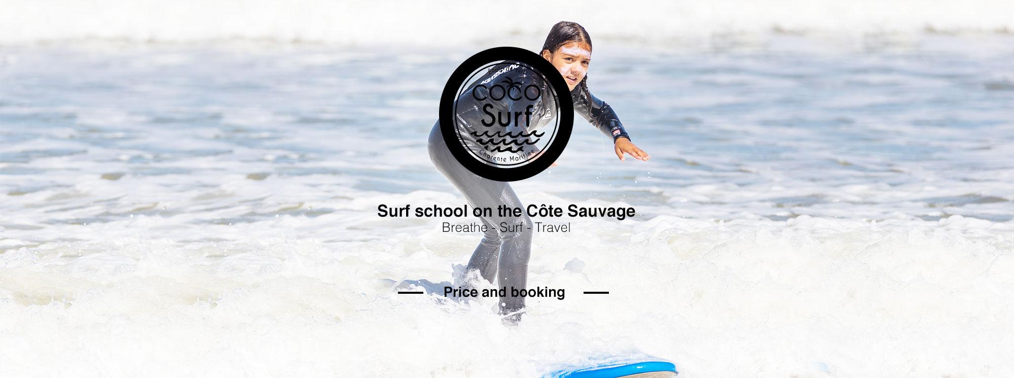 surfeuse planche en mousse coco surf école de surf