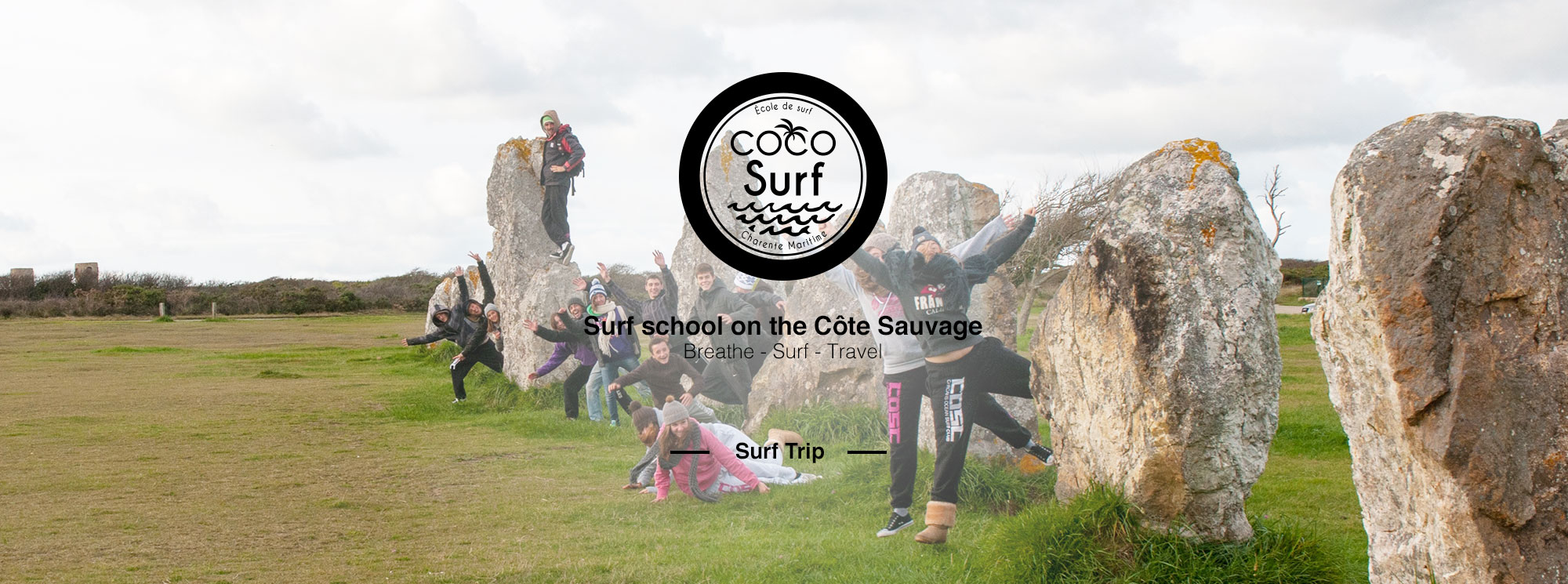 photo groupe trip surf bretagne coco surf